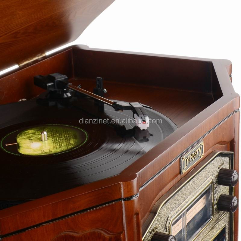 Antique Wooden Phonograph Nostalgic Gramophone