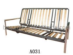 Common use general furniture manual two fold slat sofa bed frame