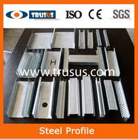 Wall partition galvanized drywall metal T and U type universal space protection corner weight mild structure purlin stud