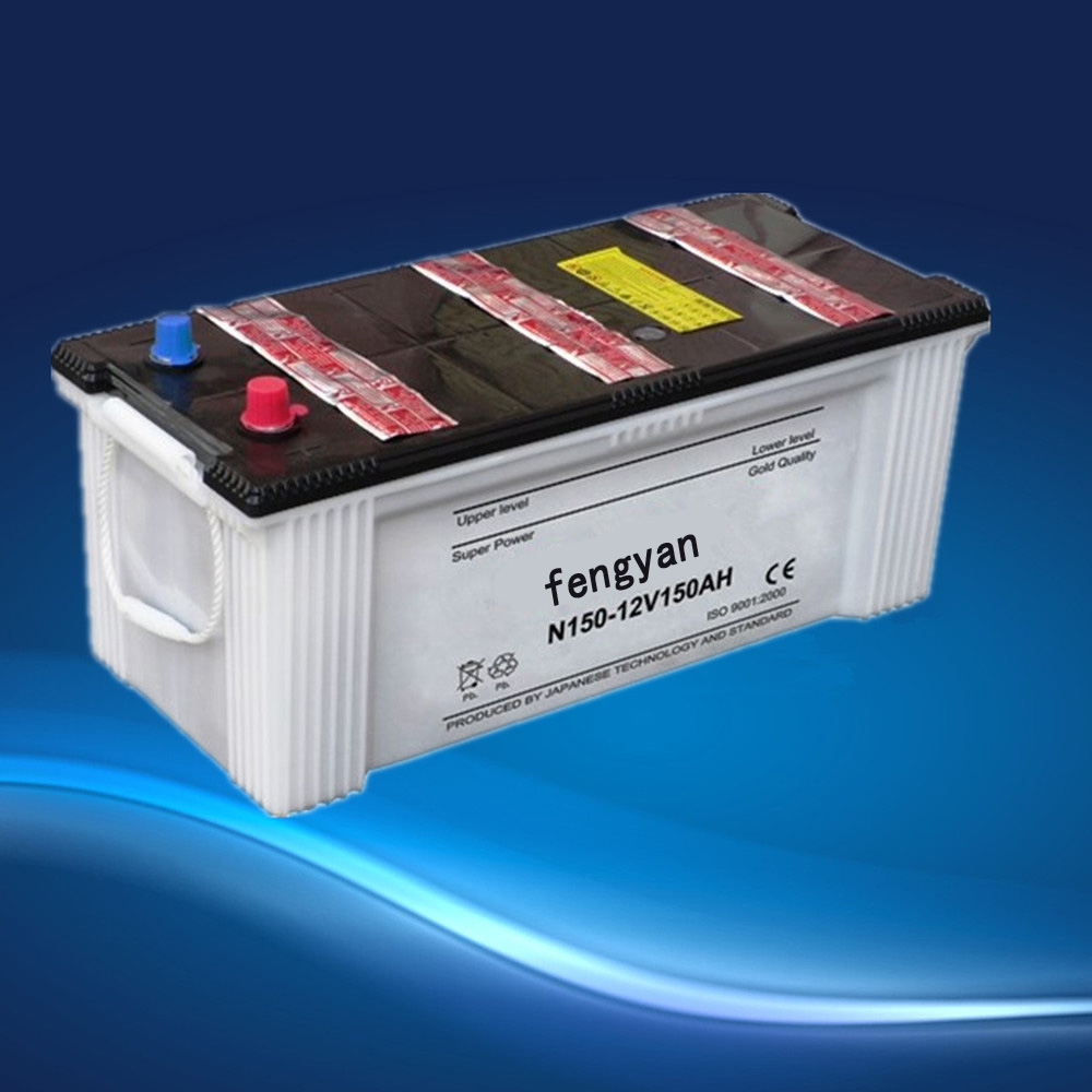 automotive lead battery 12V150Ah auto car battery N150 dry charged auto/automobile/starting battery car