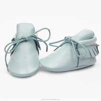 2016 New Style wholesale baby genuine cow leather moccasin shoes