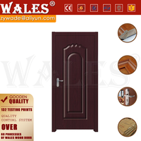 Swing type interior soundproof simple solid teak ply wood door designs