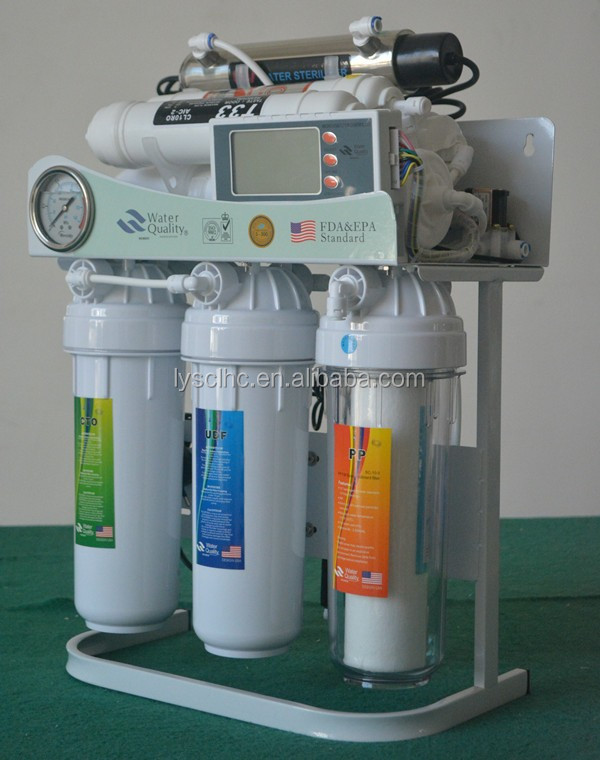 hot sell 7 stage ro system water filter with uv light and computer board