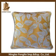 Designer useful linen and faux suede applique cushion