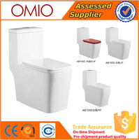Color toilets Ceramic one piece toilet Siphonic for Bathroom