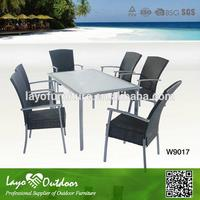 In time Delivery stacking bistro chair rattan seat dining chairs