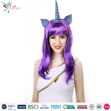Styler Brand long synthetic hair wig 20 inch kirin style purple cosplay wig
