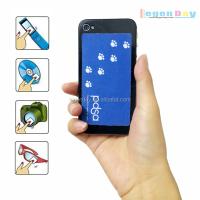 Microfiber cell phone wipe sticker screen cleaner