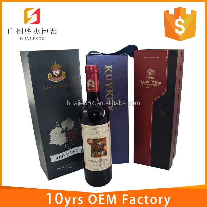 Manufacturer Wholesale Custom Logo Folding Portable Paper Wine Box