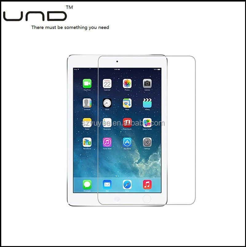 2017 0.2mm anti-scratch tempered glass screen protector for ipad 5