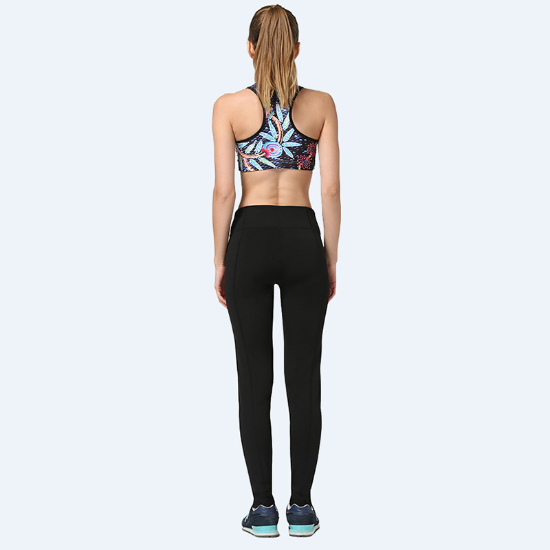 2018 new design oem logo printed woman custom yoga pants