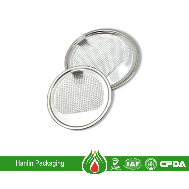 Aluminum foil lid container for milk packaging