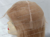 "20"" 12# Chinese virgin remy 8*9 human hair piece"