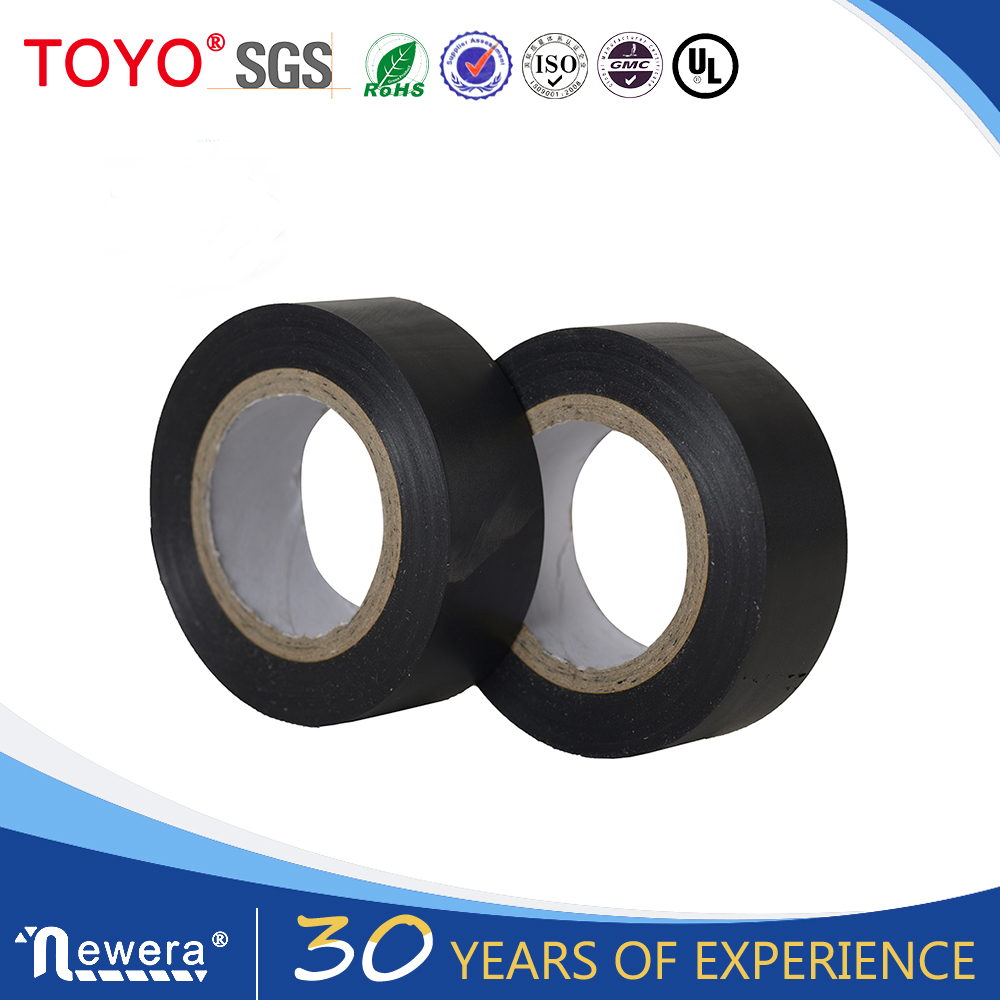 Black Strong adhensive insulation electrical pvc tape