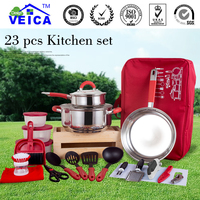 new style 201/304 s/s 18 8 high quality stainless steel cookware set