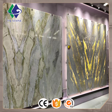 Factory price china green white onyx slabs