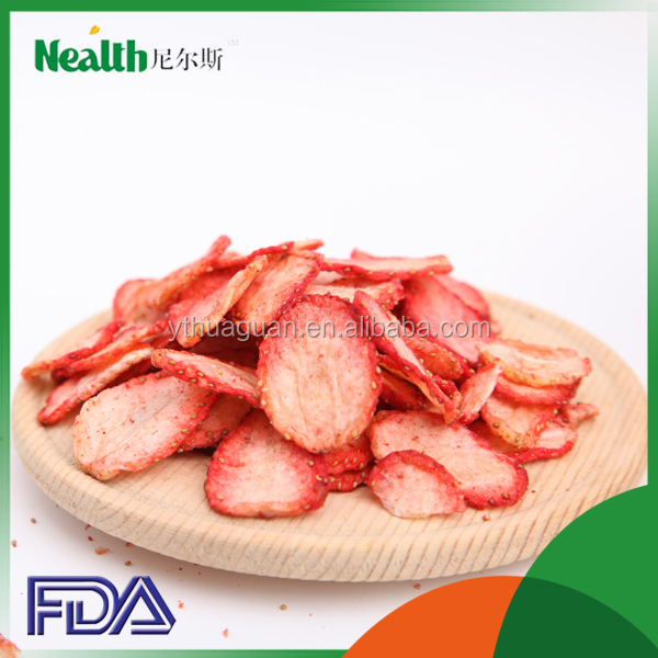 Dried style strawberry chips dried fruit importers