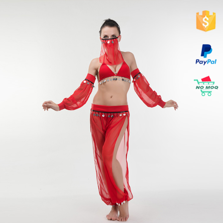 Cheap womens red sexy india belly dance costume