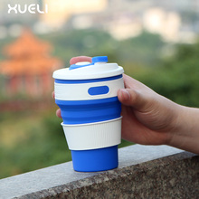 Eco Friendly custom foldable silicone coffee cups reusable travel mug