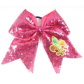 Low price Sequin Cheer Bow with Elastic band for Cheerleading Girls Made in China