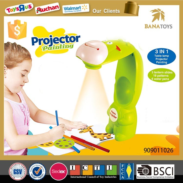 Kids educational projector painting toys