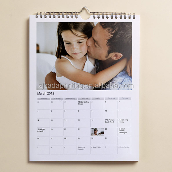 Custom Wall calendar/Hot Sale Daily Wall Calendar Printing