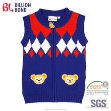 2016 fama audit Zip Up Children Sweater with Chenille Patches
