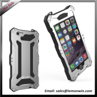 Four-proofing Aluminium alloy silicon silver phone case for iphone 6 plus