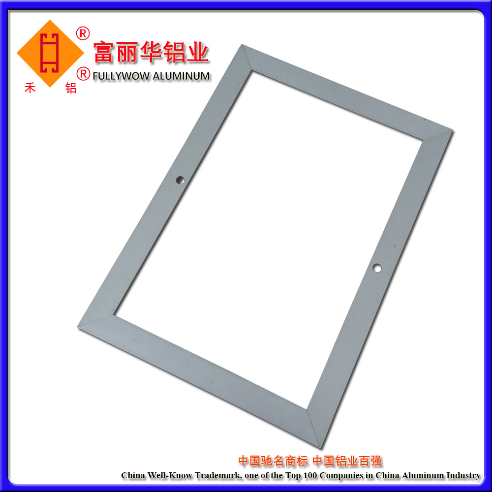 Color Anodized Aluminum Extrusion Snap Frame for hot sale