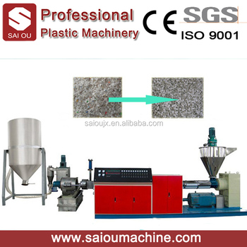 Ce Standard Hdpe Plastic Recycling Pelletizing Line