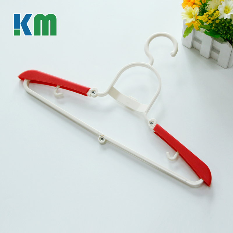 Factory Wholesale Price Plastic Folding Coat Hanger Stand