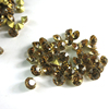 aliexpress wholesale AAAA quality Gold Foil Point Back Diamond Rhinestone