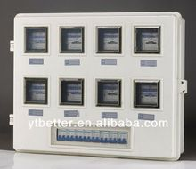 High precision single phase 1 gang electric meter box