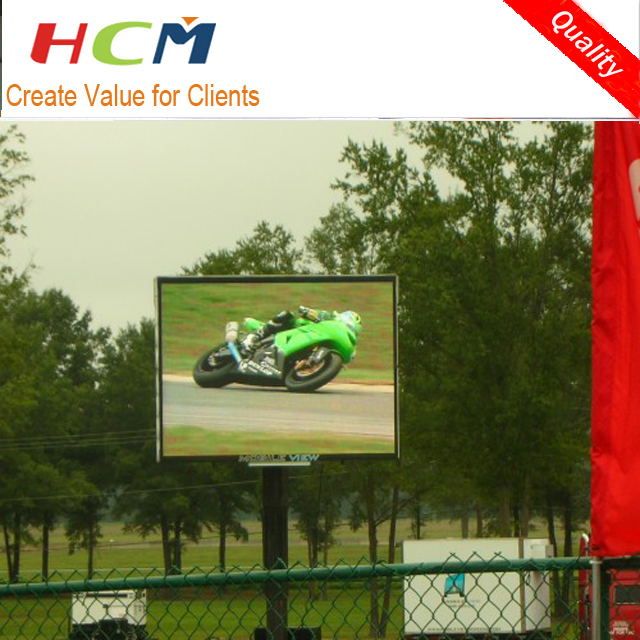 pillar mounted led video screen Outdoor video function