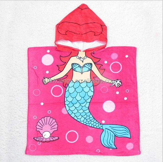 Mermaid Kids Hooded Beach Towel