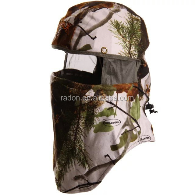 Upscale Camo Real Tree Hardwoods Camouflage Cotton Poly Adjustable face mask hat
