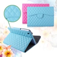 fashion design colorful leather pu flip case for ipad mimi
