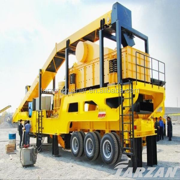 Tarzan offers mobile concrete crushing machine with best service