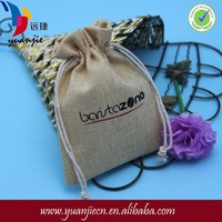 Wholesale new design small jute bags drawstring with leather handles