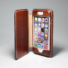 Book Style Folio Stand Flip Genuine Leather Luxury Mobile Phone Case for iPhone 6 7 8 X Plus