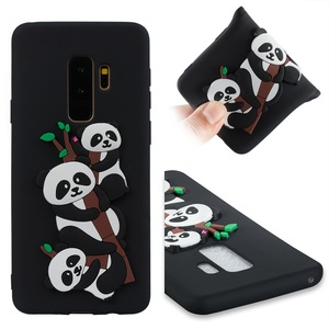 Manufactory Custom 3D Panda Cute Silicone Tpu Protective Cover Cellphone Soft Skin Mobile Phone Case For Samsung Galaxy S9 Plus