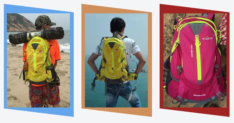 New Design Fashionable Mountain Climbing Outdoor Backpack Hiking Comfort Backpack