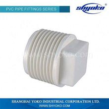 Plumbing Materials PVC BSPT Male Thread Plug for Square Tubing