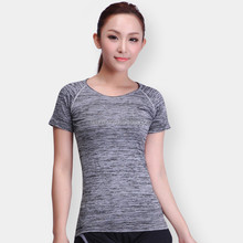 Summer Fashion New Womens Gym Sports Wear Yoga Clothing Sport T Shirt