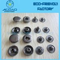 Custom Concave Logo Metal 4 Parts Snap Button Fasteners Press Snap Button