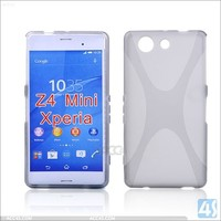 Durable X Line Wave TPU Gel Case Mobile Phone case For Sony Xperia Z4 Mini