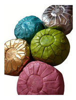 Leather handmade moroccan pouf