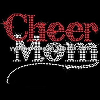 cheer mom personalized mom rhinestone transfer School Team Spirit