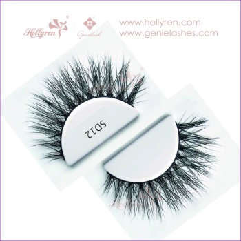 High Quality Luxury Light Soft Dense Three-Dimensional Layered 100% Real Mink Fur Strip Eyelash