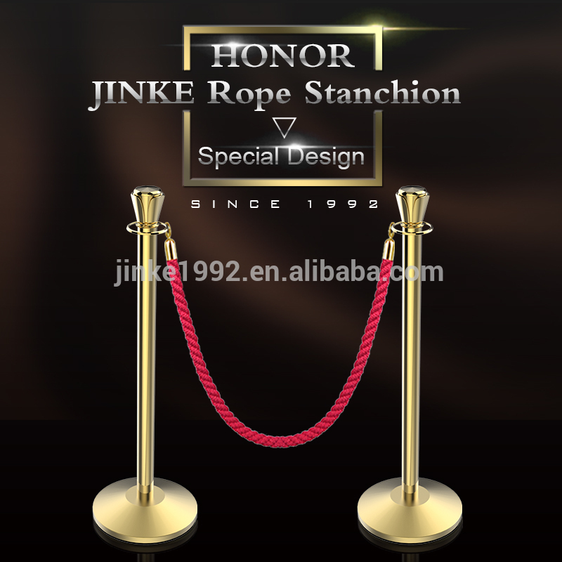 Newest Design Top on Sale China Golden Queue Rope Barrier Stanchion Cheap Price